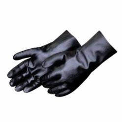 Liberty Glove 2231 Single Dipped Smooth Finish General Purpose Gloves, Coated, S to L, PVC Palm, PVC, Black, Knit Wrist Cuff, Resists: Chemical, Interlock Lining
