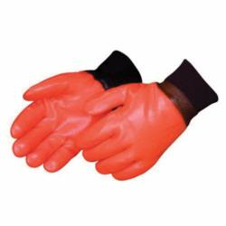 Liberty Glove 2238 Single Dipped Smooth Finish General Purpose Gloves, Coated, L, PVC Palm, PVC, Black, Gauntlet Cuff, Resists: Chemical, Interlock Lining
