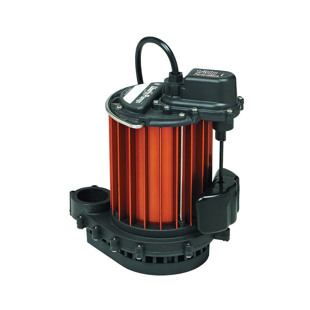 Liberty Pumps® 237 230 Submersible Sump Pump, 30 gpm Flow Rate, 1-1/2 in Outlet, 1/3 hp, Aluminum, Domestic