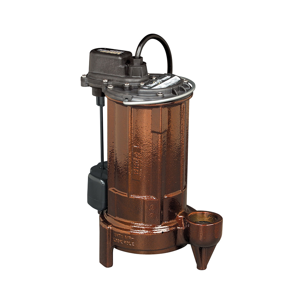Liberty Pumps® 283 280 Submersible Sump Pump, 62 gpm Flow Rate, 1-1/2 in Outlet, 1 ph, 1/2 hp, Cast Iron, Import