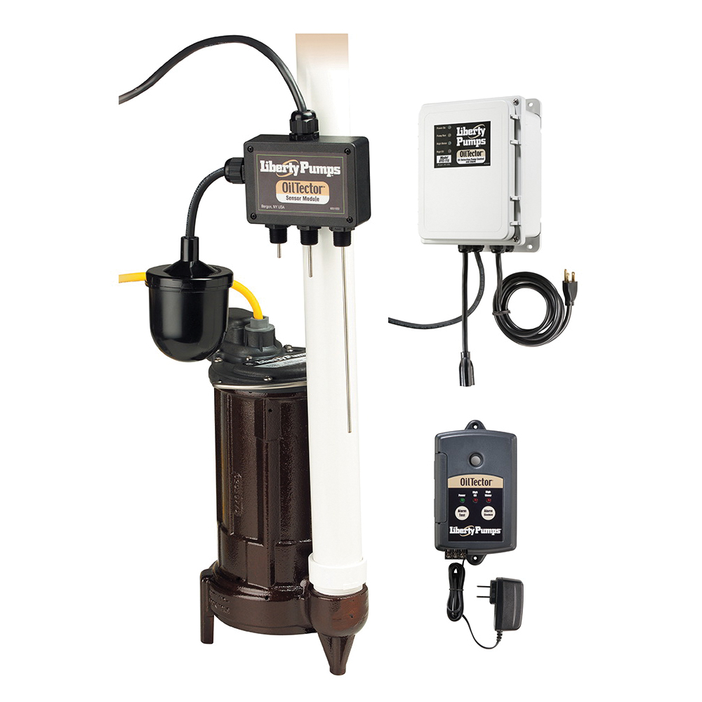Liberty Pumps® OilTector® ELV280 Elevator Sump Pump With OilTector Control, 1-1/2 in Outlet, 1 ph, 1/2 hp, Cast Iron, Domestic