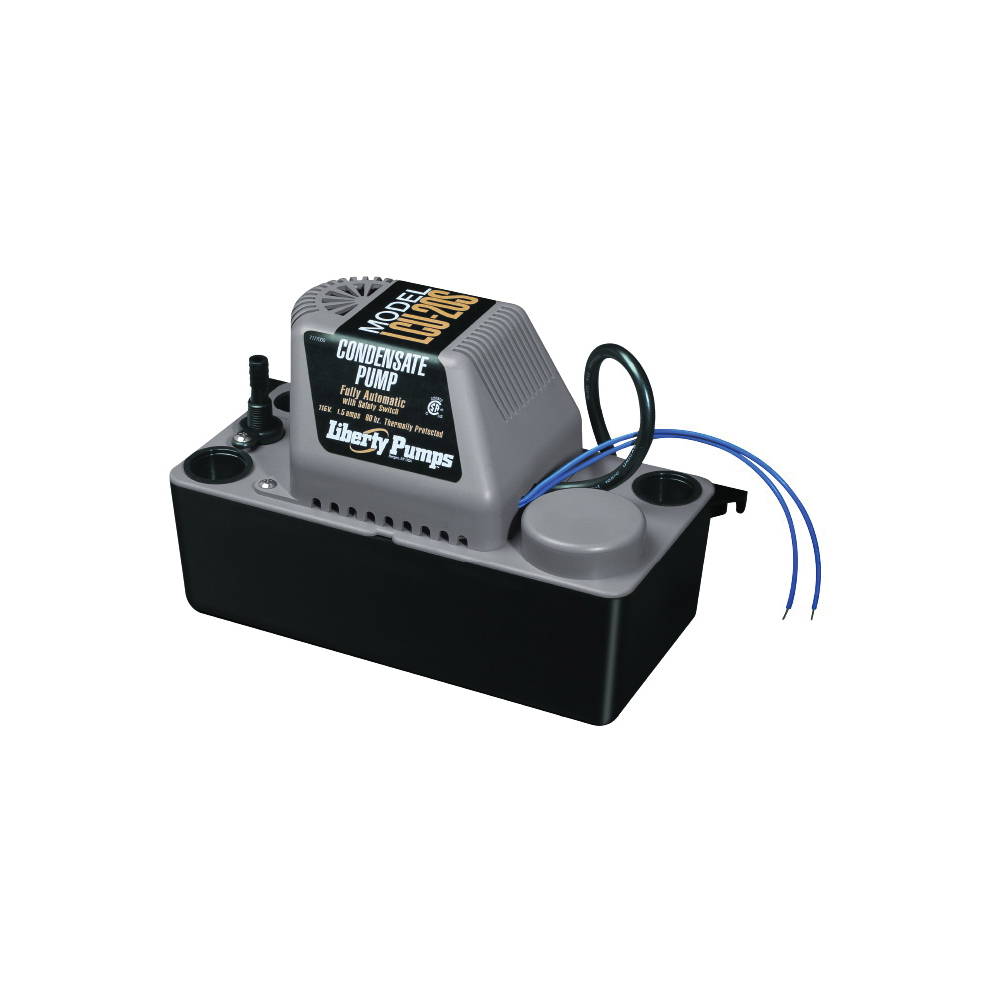 Liberty Pumps® LCU-20S Condensate Pump, 100 gph Flow Rate, 3/8 in OD Outlet, 20 ft Shutoff Head, 1/30 hp Power Rating