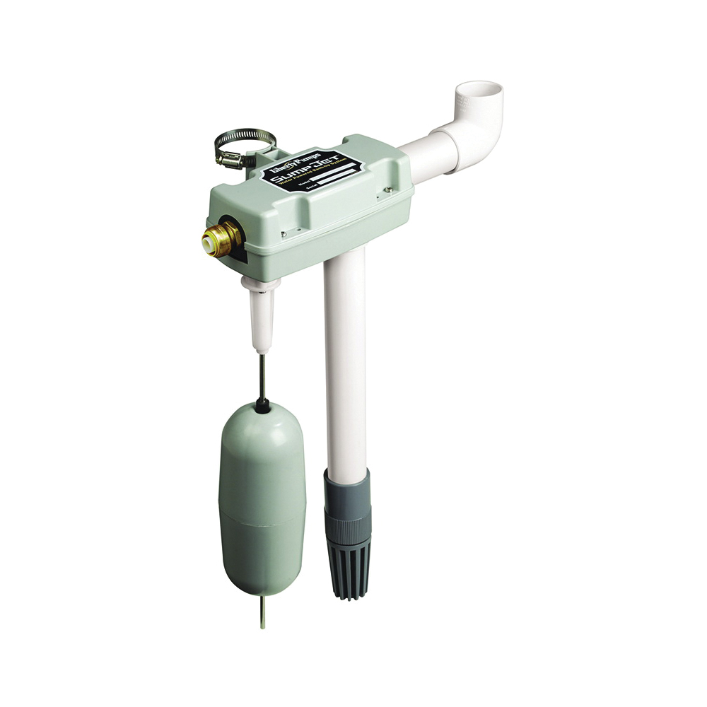 Liberty Pumps® Sharkbite® SJ10 Water Powered Backup Pump, 3/4 in NPT Inlet x 1-1/2 in Outlet, ABS, Domestic
