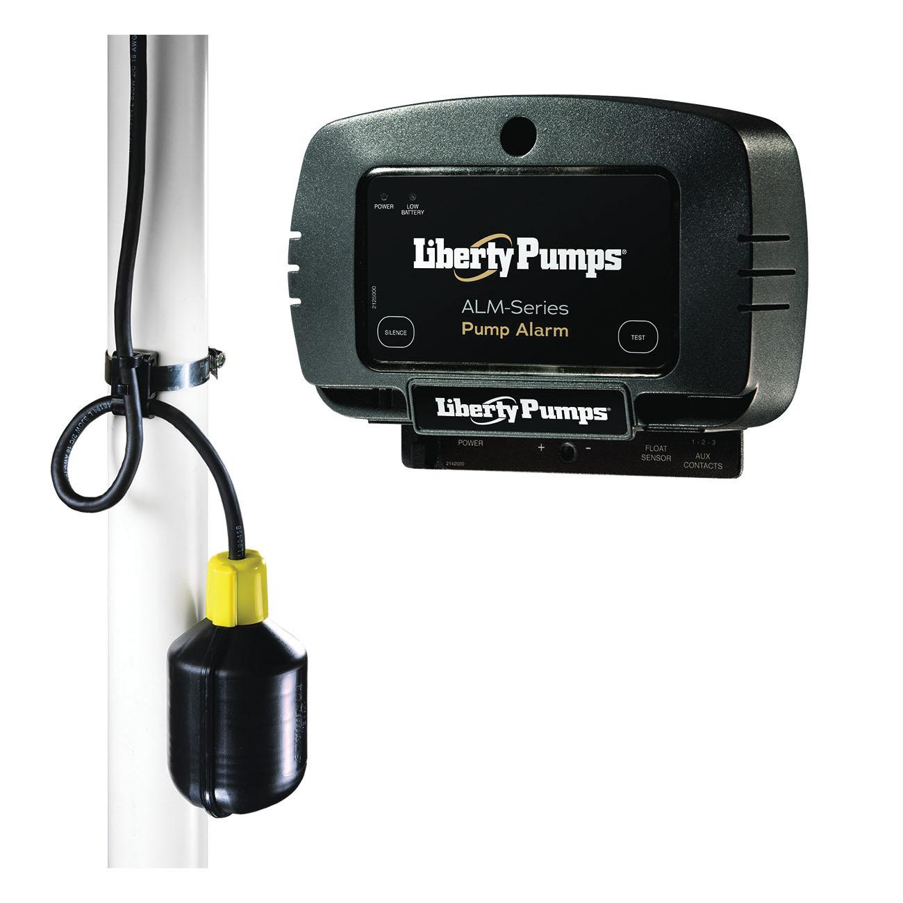 Liberty Pumps® ALM-2 High Liquid Level Alarm, 86 dB Sound, Test/Silence Switch, 115 VAC, Domestic