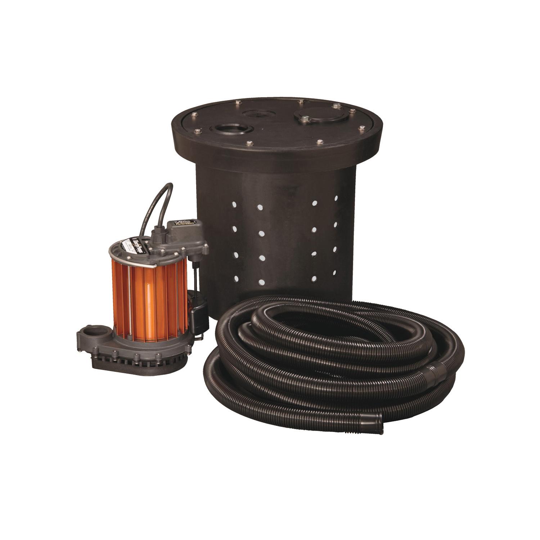 Liberty Pumps® CSP-237 Crawl Space Sump Pump Kit, 1-1/2 in Outlet, 1/3 hp, Aluminum/Polypropylene, Domestic
