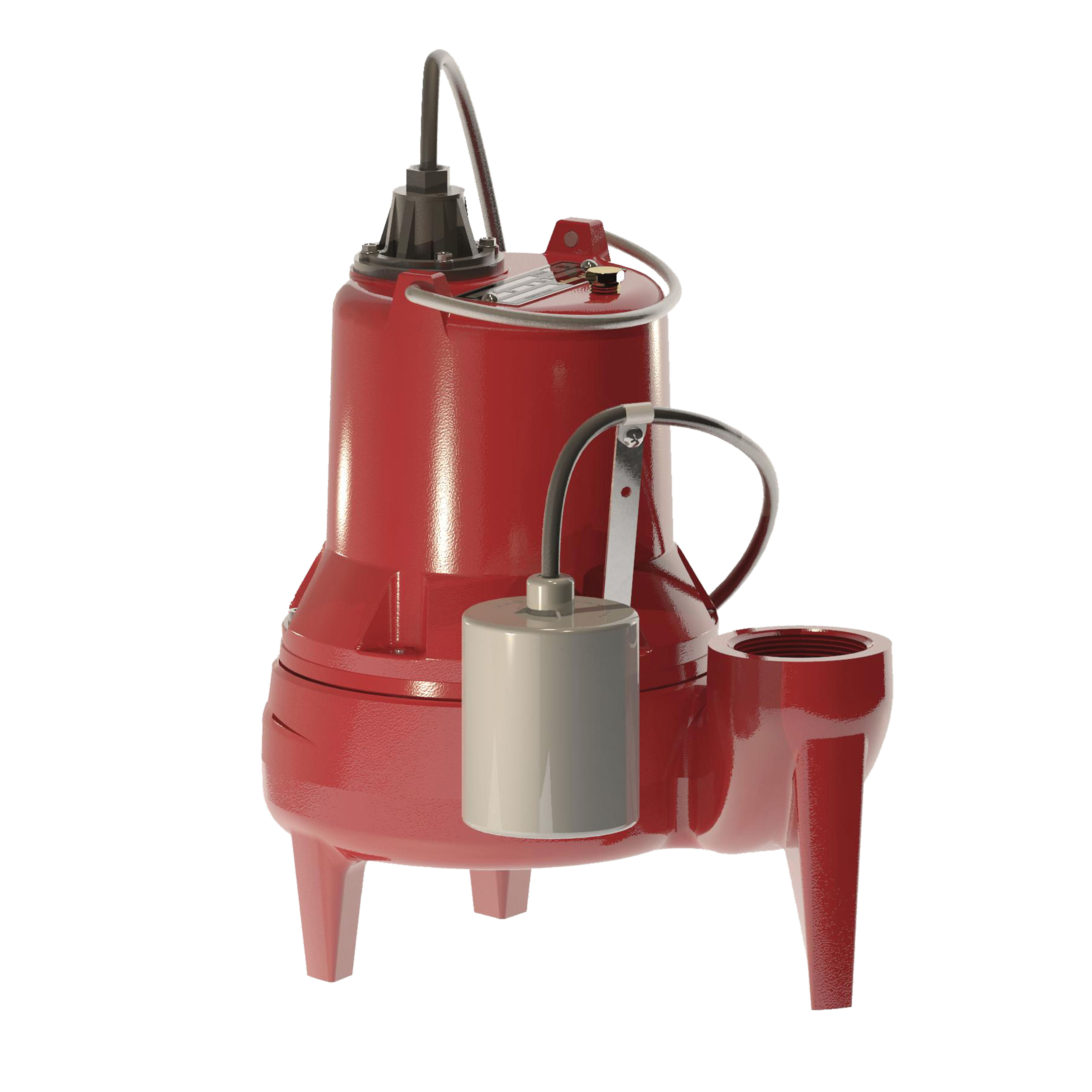 Liberty Pumps® LE41A Automatic Submersible Sewage Pump, 4/10 hp, 115 VAC, 2 in FNPT Outlet, Cast Iron, 12 A Full Load/22.5 A Locked Rotor, 1 ph