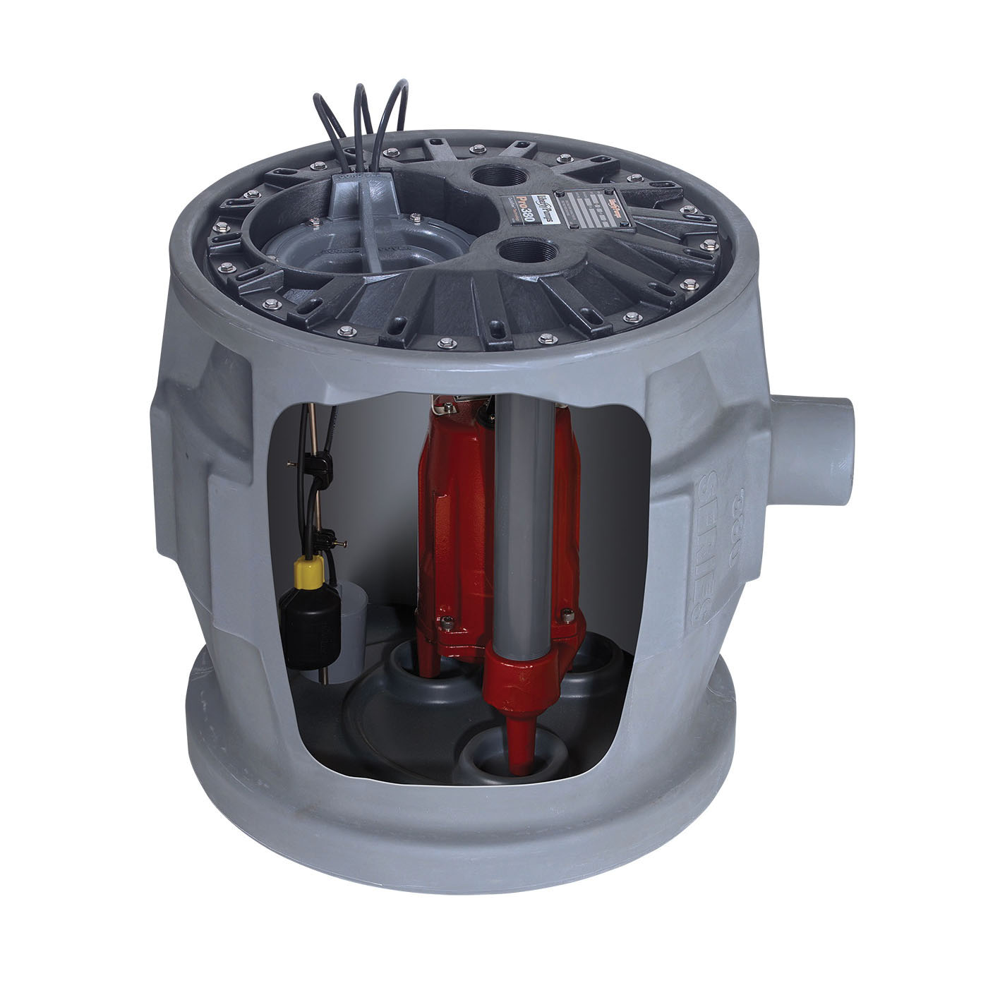 Liberty Pumps® ProVore® P382XPRG101 PROVORE®380 Simplex Grinder System, 1 hp, 115 VAC, 2 in Outlet, Polyethylene, 12 A, 1 ph