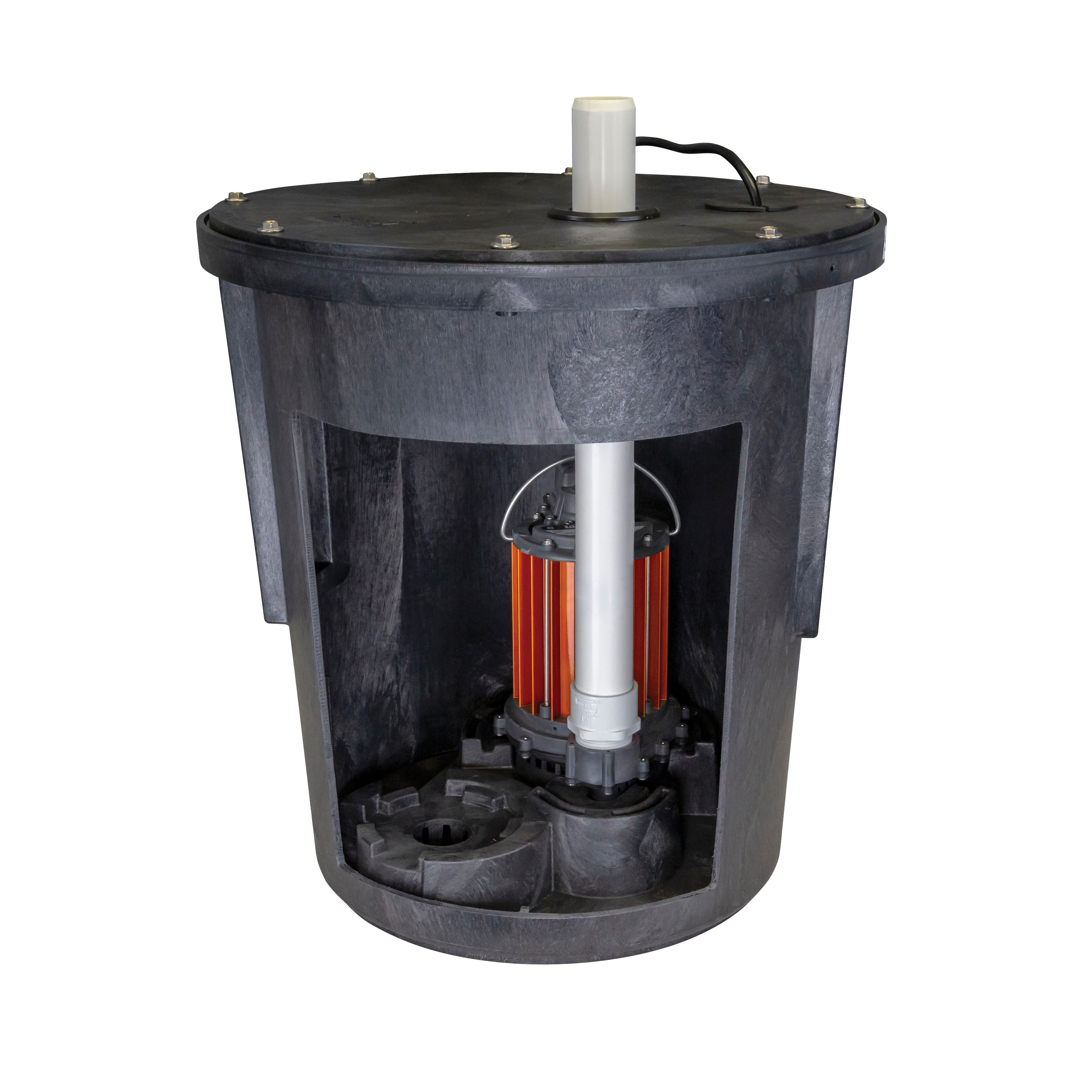 Liberty Pumps® SPAC-457 Assembled Submersible Sump Pump, 48 gpm Flow Rate, 4 in Inlet x 1-1/2 in Outlet, 1/2 hp, Polyethylene/Powder Coated Aluminum, Domestic