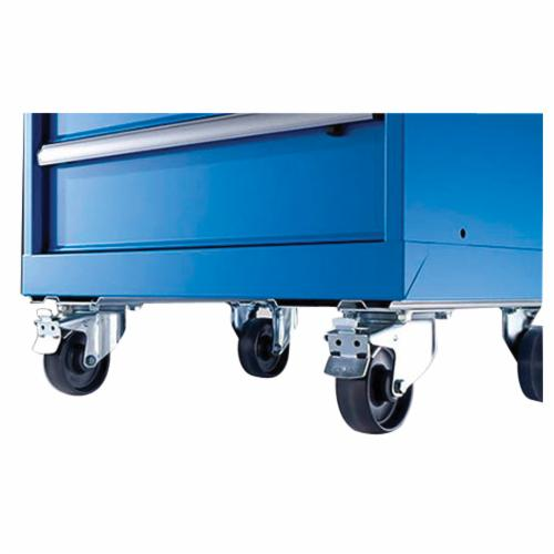 Lista™ CAST6X2 Caster Set, 600 lb Load Capacity, 6 x 2 in Caster, For Use With Mobile Cabinets