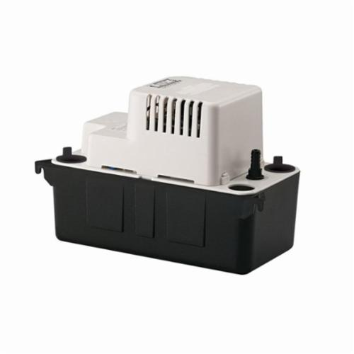 Little Giant® 554405 VCMA-15ULS Automatic Condensate Removal Pump, 65 gph Flow Rate, 15 ft Shutoff Head, 60 W Power Rating, Import