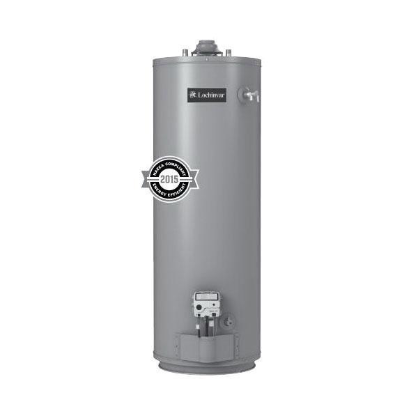 Lochinvar® GSN050-40 High Efficiency Residential Gas Water Heater, 40000 Btu/hr Heating, 50 gal Tank, Natural Gas Fuel, 43 gph at 90 deg F Recovery, Short
