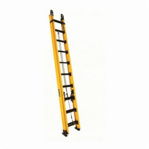 Louisville® AE3224 AE3200 Multi-Section Extension Ladder, 24 ft OAL, 250 lb Load, 12 in Adjustable Increments, Aluminum, Type I