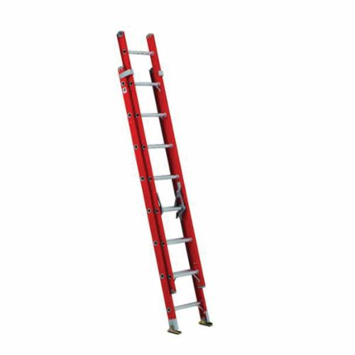 Louisville® DXL3420-24PG Extra Heavy Duty Multi-Section Professional Extension Ladder, 24 ft OAL, 375 lb Load, 12 in Adjustable Increments, Fiberglass, Type IAA