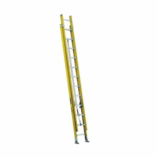 Louisville® FE3216 D-Rung Type IA Extension Ladder, 16 ft OAL, ANSI Code: A14.5, 300 lb Load, Fiberglass, 12 in Adjustable Increments
