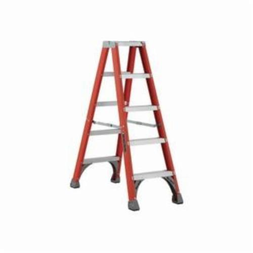 Louisville® FE4228HD FE4000HD Extra Heavy Duty Multi-Section Professional Extension Ladder, 28 ft OAL, ANSI Code: Type IAA, 375 lb Load, Fiberglass, 12 in Adjustable Increments