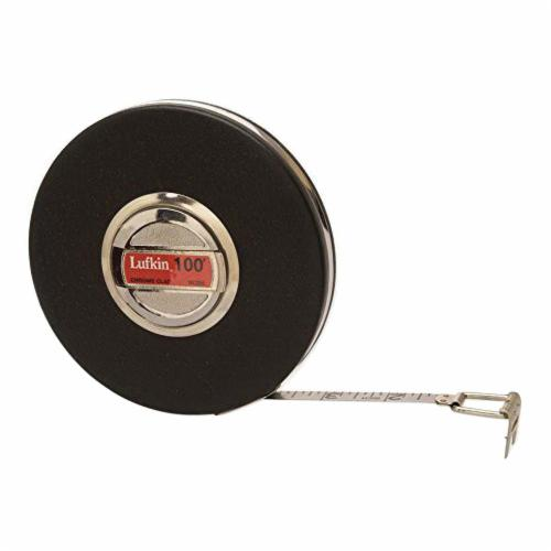 Lufkin® HW223 Banner® Tape Measure, 50 ft L x 3/8 in W Blade, Steel Blade, Imperial Measuring System, 1/8ths Graduation