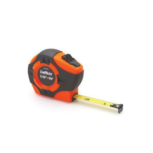 Lufkin® HW226 Banner® Tape Measure, 100 ft L x 3/8 in W Blade, Steel Blade, Imperial Measuring System, 1/8ths Graduation