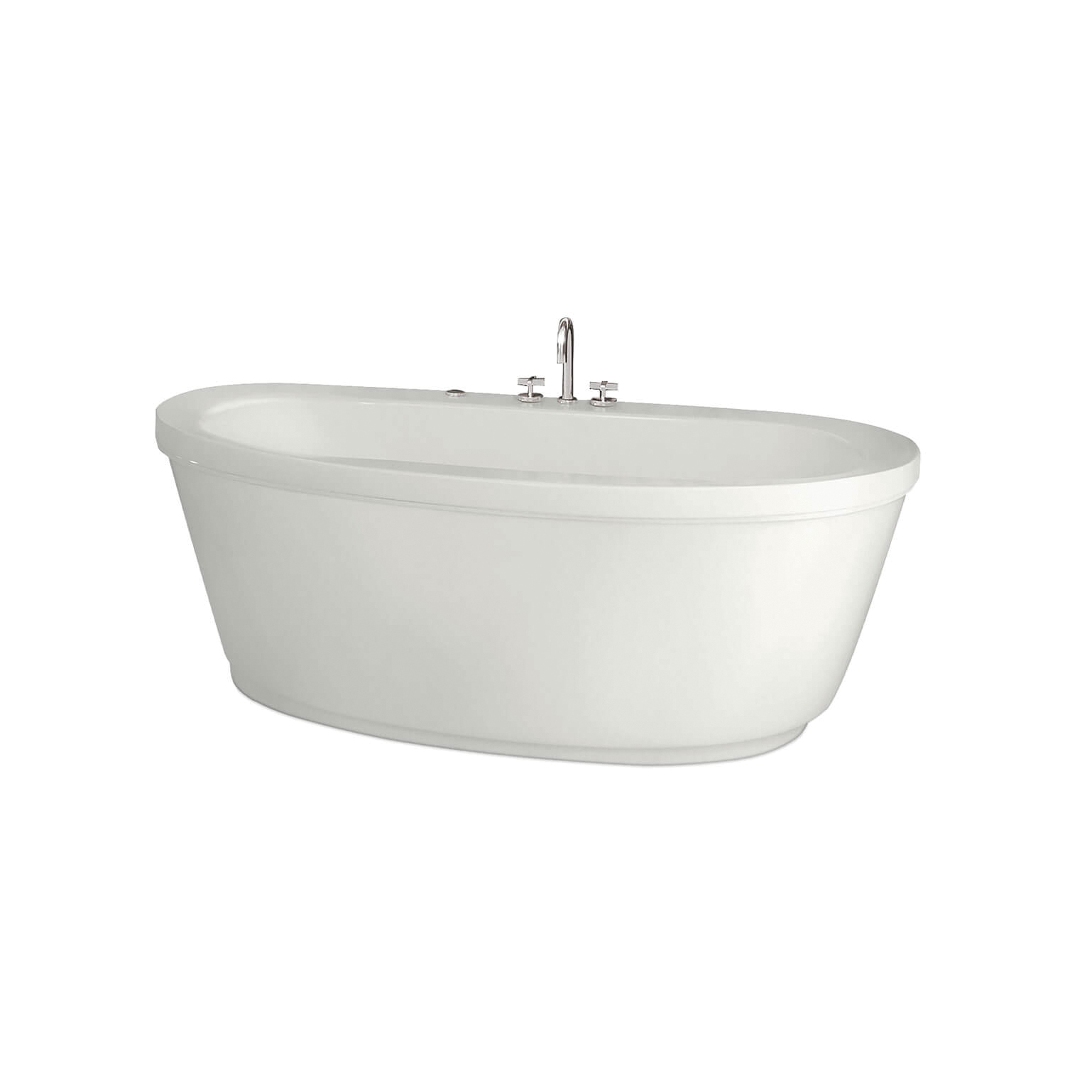 MAAX® 105359-000-001 Jazz® F 2-Piece Bathtub, Chromatherapy, 66 in L x 36 in W, Center Drain, White