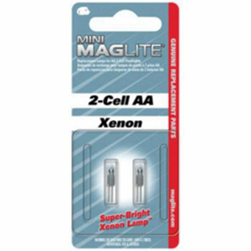 MAGLITE® 459-LM2A001 Mini Replacement Lamp, Xenon Bulb, Push-In Base, 14 Lumens Lumens