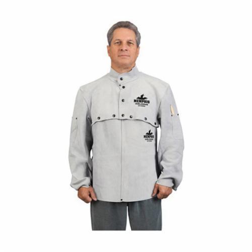 Steiner® Weldlite™ 1032-L Flame Retardant Cape Sleeves, L, Green, Cotton, Snap Front/Cuff Closure