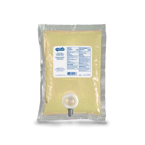 MICRELL® 2157-04 Antibacterial Lotion Soap, 1000 mL, Liquid, Pleasant/Citrus, Clear Amber