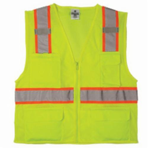 ML Kishigo 1195 All Mesh Contrast Class 2 Safety Vest, Large, Lime, McMillen Custom