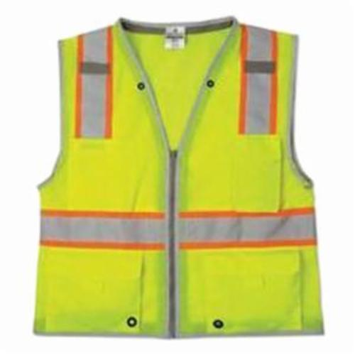 ML Kishigo 1338 Traffic Vest, Lime, Poly Mesh