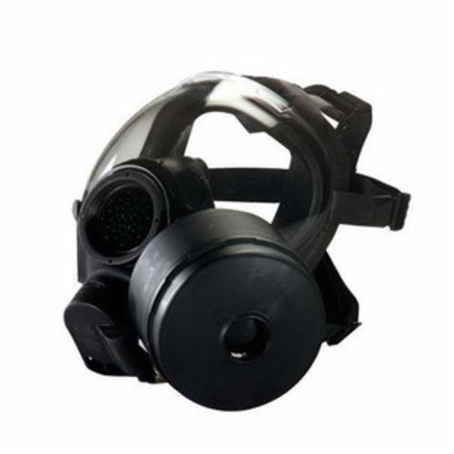 MSA 10083795 Advantage® 4100 Full Face Respirator With Nosecup, M, 4-Point Suspension, 1-Port Connection