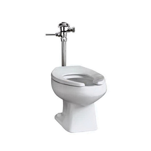 Mansfield® 1311NS WH Baltic Flush Valve Toilet, Elongated Bowl, 14-1/4 in H Rim, 10 in Rough-In, 1.28/1.6 gpf Flush Rate, White