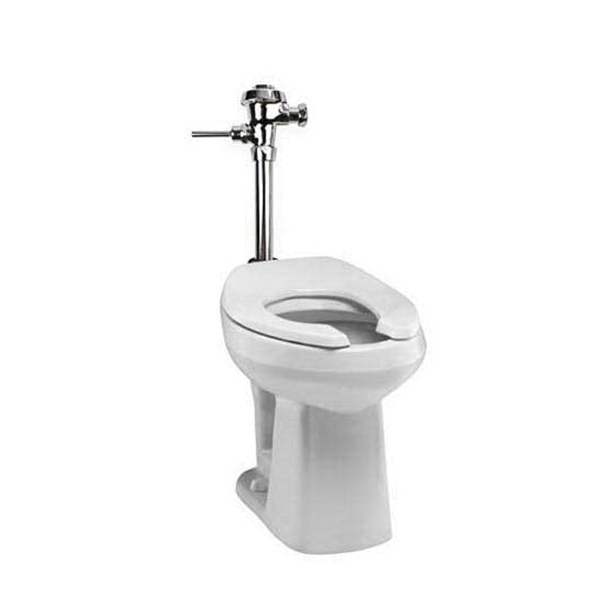 Mansfield® SmartHeight™ 1319 WH Adriatic™ Flush Valve Toilet, Elongated Bowl, 17 in H Rim, 10 in Rough-In, 1.28/1.6 gpf Flush Rate, White