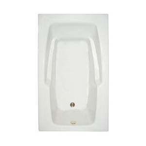 Mansfield® 6518 WH Bathtub, Pro-Fit®, Whirlpool, Rectangular Shape, 59-3/4 in L x 35-3/4 in W, White