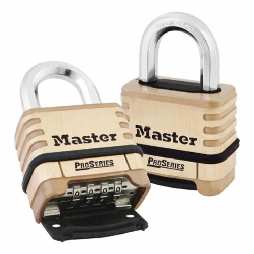 Master Lock® 105D Warded Safety Padlock, Different Key, Laminated Steel Body, 3/16 in Dia Shackle, Warded Locking Mechanism
