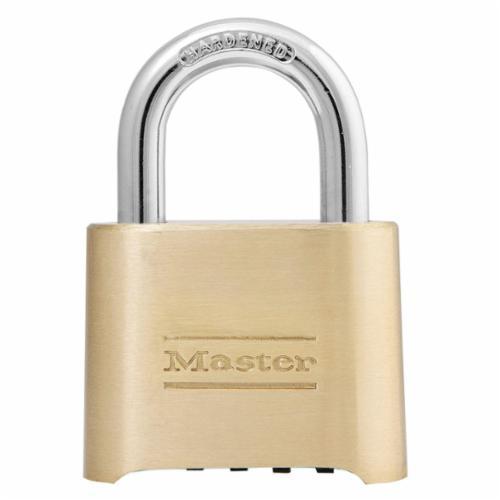 Master Lock® 17 Non-Rekeyable Padlock, Different Key, Steel Body, 7/16 in Dia Shackle, Silver, 5-Pin Tumbler Locking Mechanism