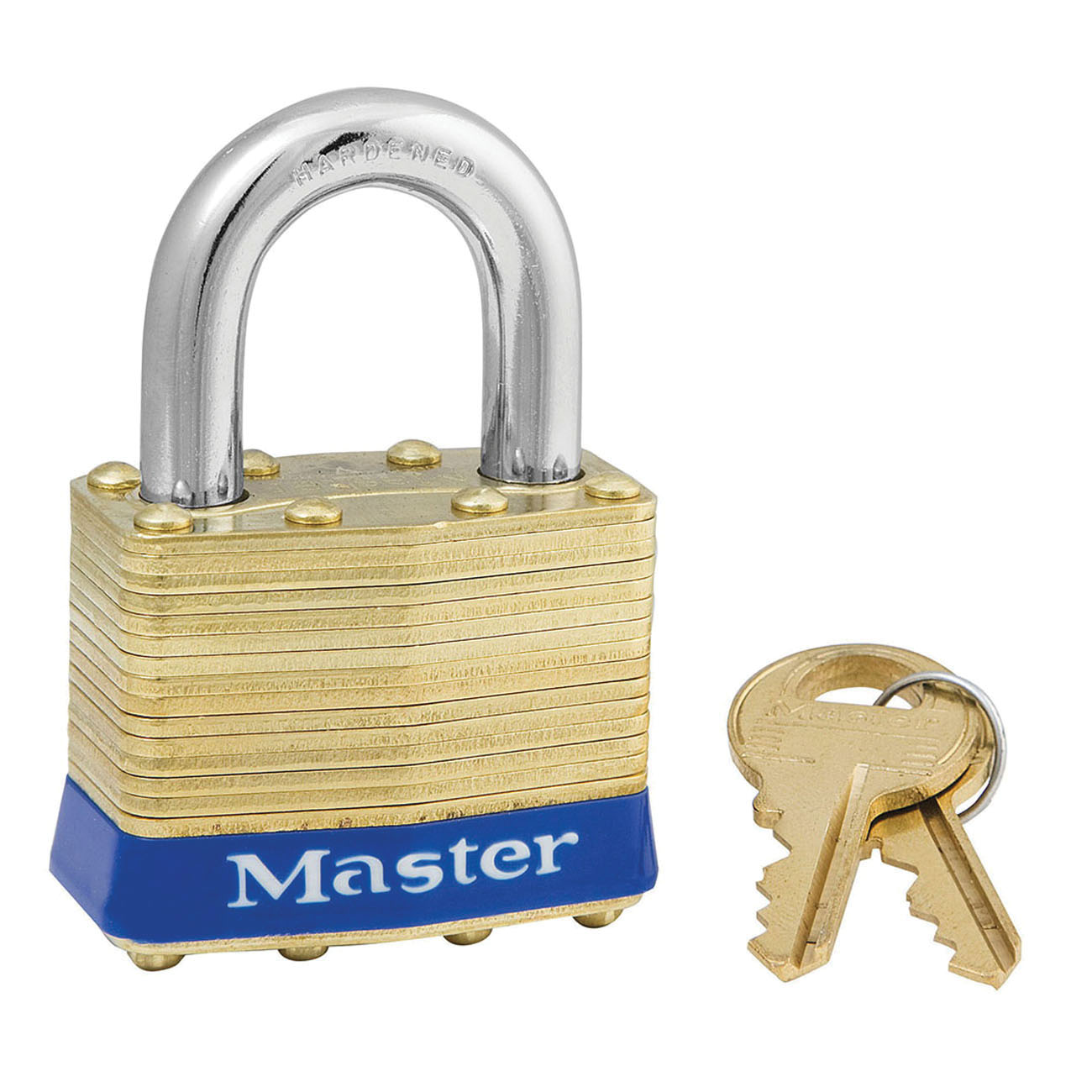 Master Lock® 1KA Commercial Grade Non-Rekeyable Safety Padlock, Alike Key, 5/16 in Shackle, Laminated Steel Body, 4-Pin Tumbler Locking