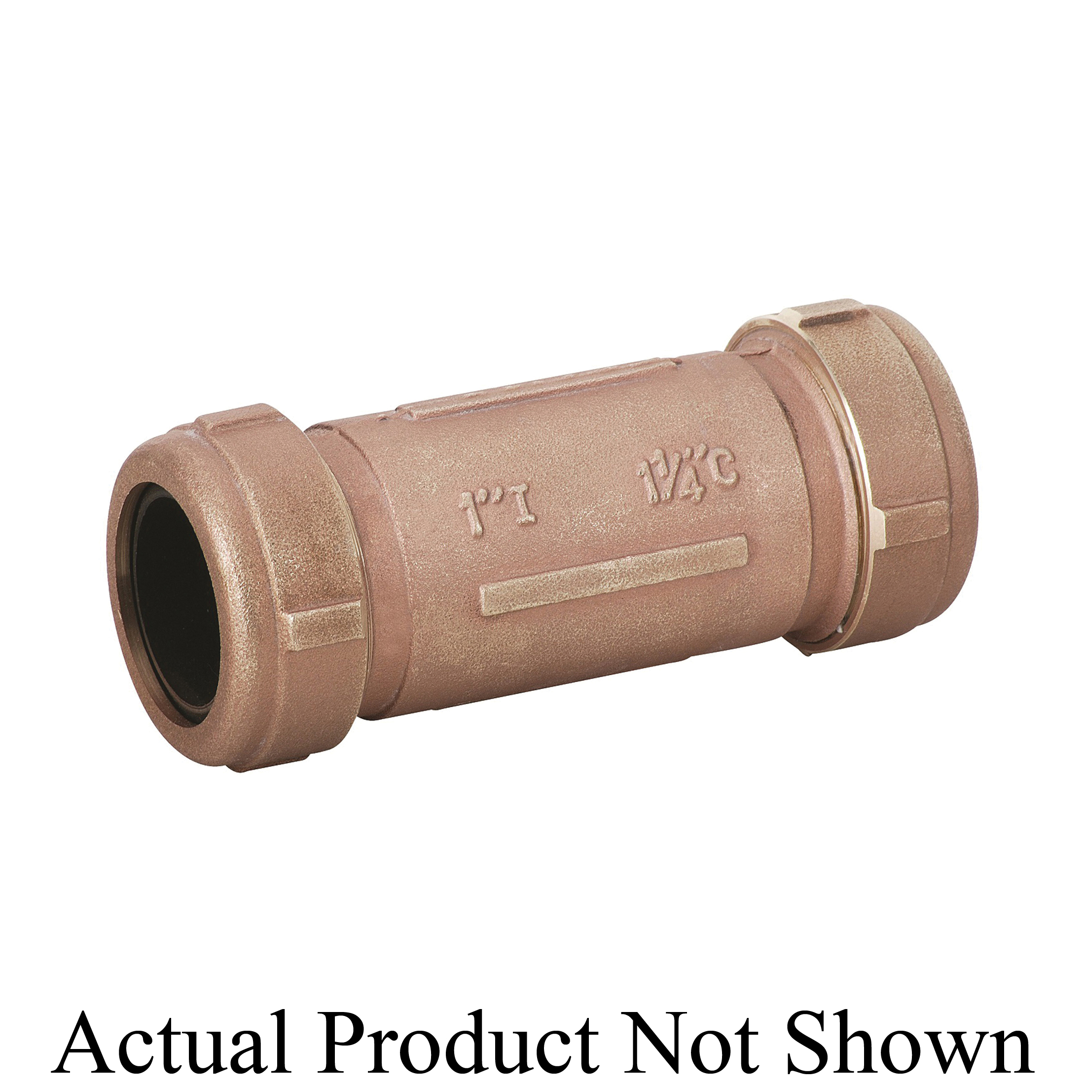 Matco-Norca™ 450L06LF 450LLF Long Compression Coupling, 1-1/4 x 1-1/2 in Nominal, IPS x CTS End Style, Brass, Import
