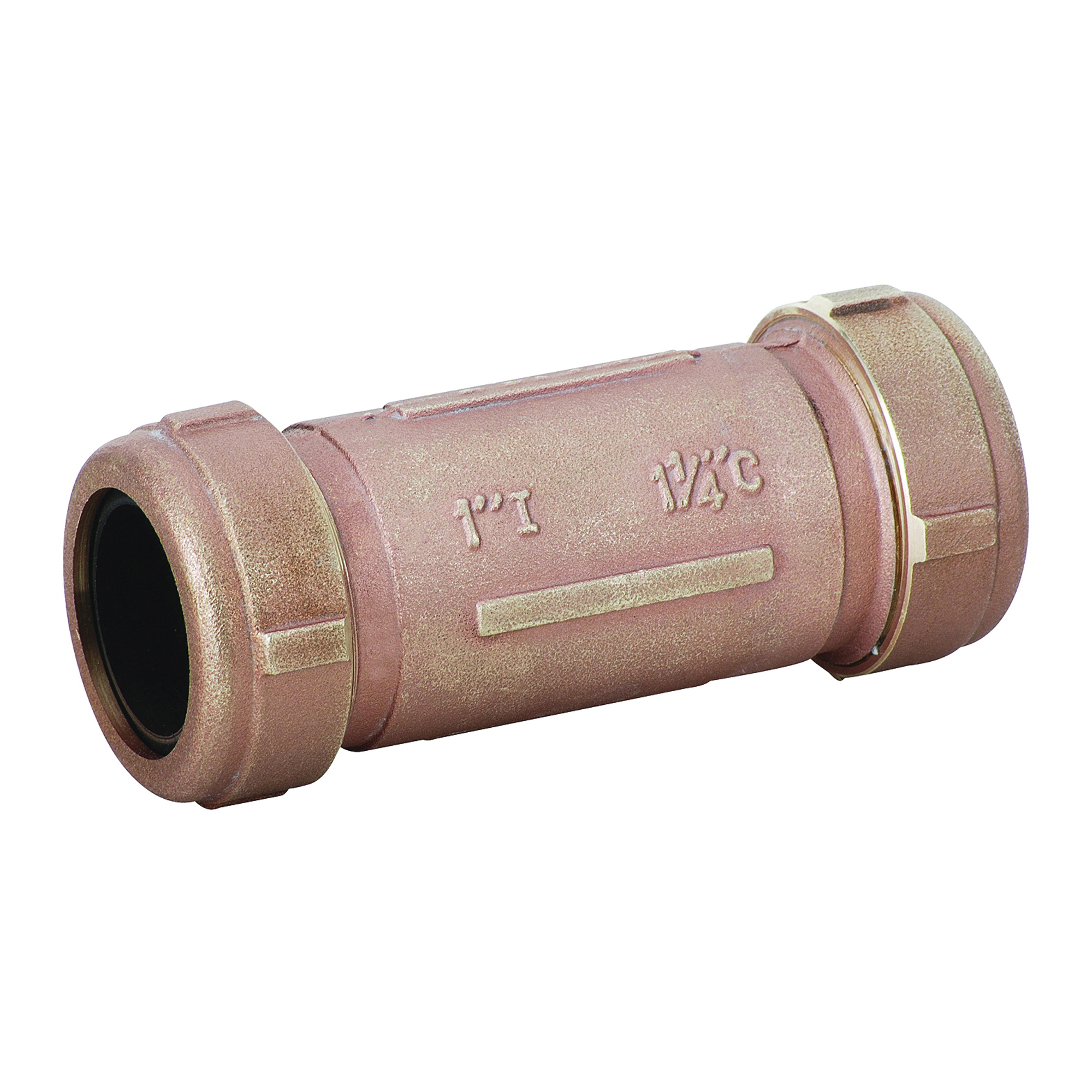 Matco-Norca™ 450L05LF 450LLF Long Compression Coupling, 1 x 1-1/4 in Nominal, IPS x CTS End Style, Brass, Import