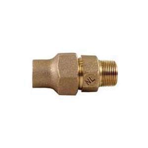 McDonald® 5120-139, 74753 Octagonal Straight Adapter, 3/4 in, Flare x MNPT, Brass, Domestic