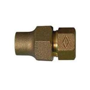 McDonald® 5120-141, 74754 Hex Straight Adapter, 3/4 in, C Flare x FNPT, Brass, Domestic