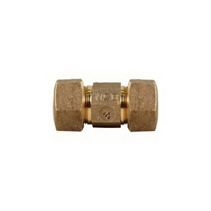 A.Y. McDonald 5130-114, 74758T Octagonal Straight Coupling, Domestic, 3/4 in Nominal, T CTS Compression End Style, Brass