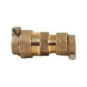 McDonald® 5120-144, 74758 Octagonal Straight Coupling, 3/4 in, C Flare, Brass, Domestic