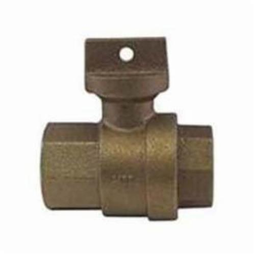 McDonald® 5139-114 741, 76101MW Straight Ball Meter Stop With Lockwing, 3/4 in Nominal, 5/8 x 3/4 or 3/4 in Meter, FNPT x Meter, 300 psig, Brass Body, EPDM/Rubber Softgoods