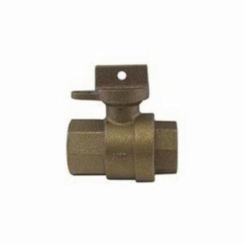 A.Y. McDonald 5139-112 Ball Curb Stop, 3/4 in, FNPT, Brass Body, EPDM Softgoods