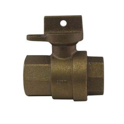 A.Y. McDonald 5132-156, 76101W Ball Curb Stop With Lockwing, 3/4 x 5/8 x 3/4 x 3-1/2 in Nominal, FNPT End Style, Brass Body, Full Port, EPDM Softgoods