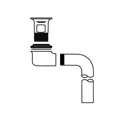 McGuire™ 155WCECO Eco-Line Offset Lavatory Strainer, Cast Brass