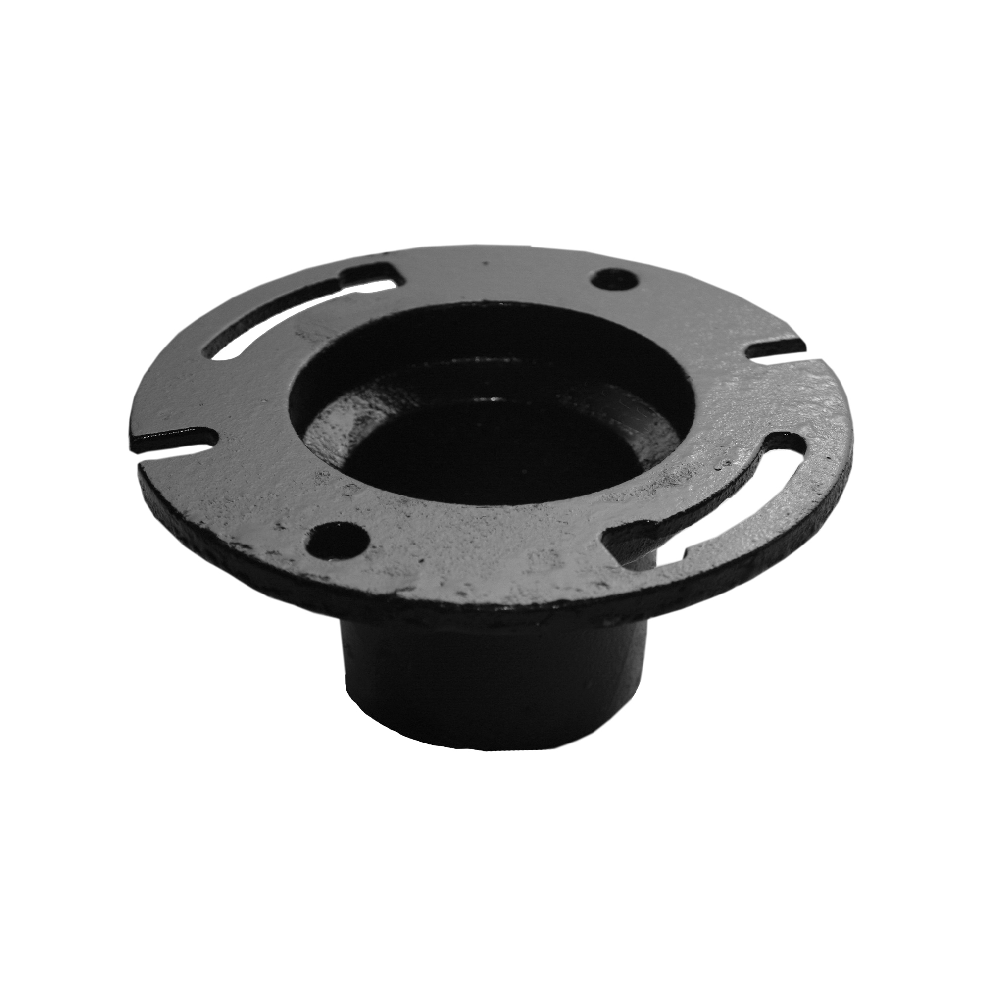 Tyler Pipe 010593 9-480 Slot and Notch No-Hub Closet Flange, 4 x 3 in Pipe, Cast Iron, Domestic