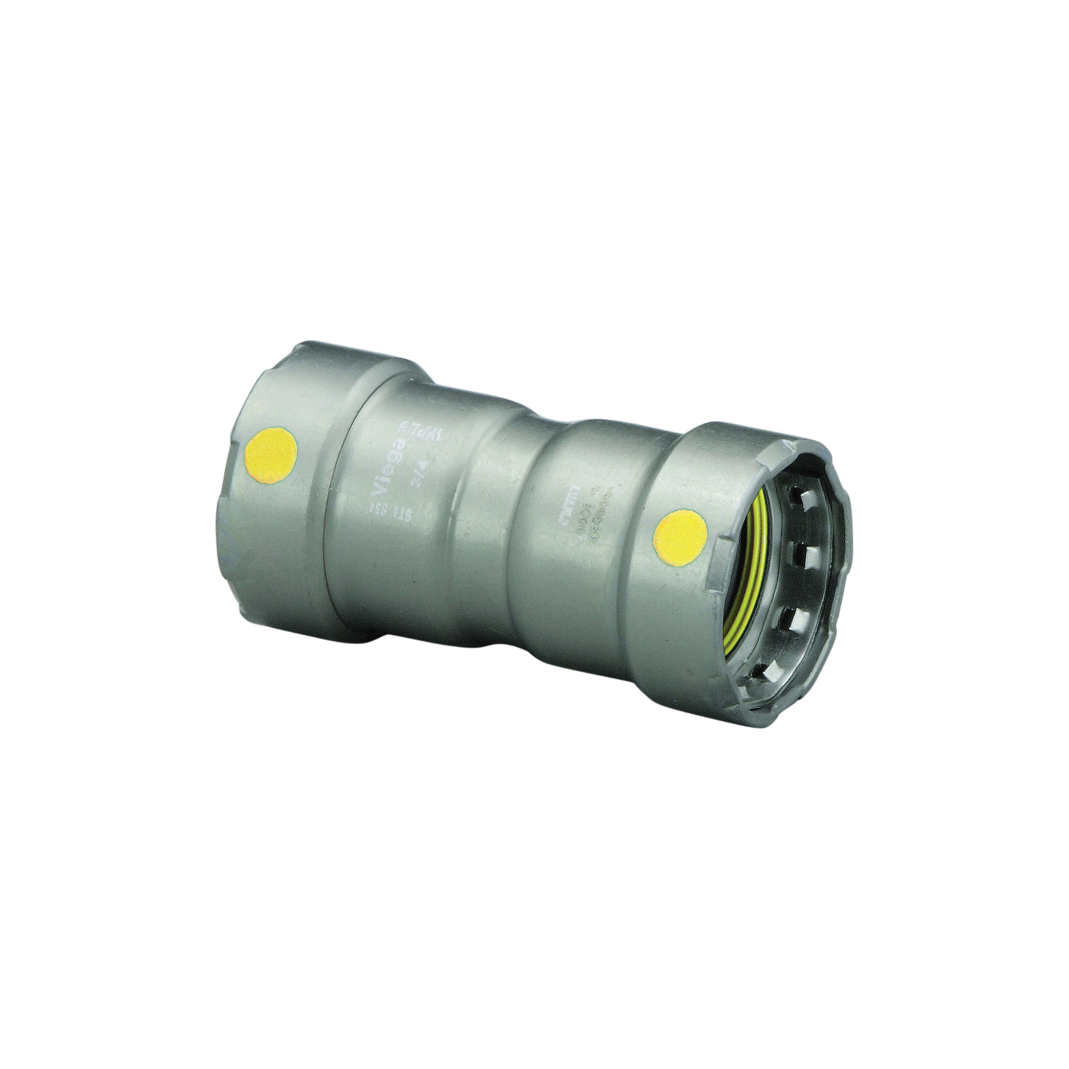 MegaPress®G 22009 Pipe Coupling With Stop, 3/4 in Nominal, Press End Style, Carbon Steel, Import