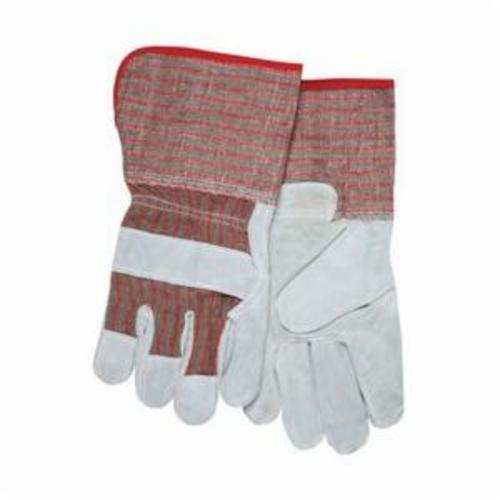 Memphis 1201S Industrial Grade Ladies General Purpose Gloves, Leather Palm, S, Cowhide Leather Palm, Cotton Thread/Leather/Polyester, Gray, Safety Cuff, Fleece Lining, Gunn Pattern/Standard Finger/Wing Thumb