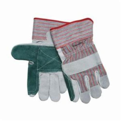 Memphis 1210S Industrial Grade General Purpose Gloves, Leather Palm, S, Cowhide Leather Palm, Cowhide Leather, Gray, Gauntlet Cuff, Resists: Abrasion, Cut, Puncture and Tear, Fleece Lining, Gunn Pattern/Standard Finger/Wing Thumb
