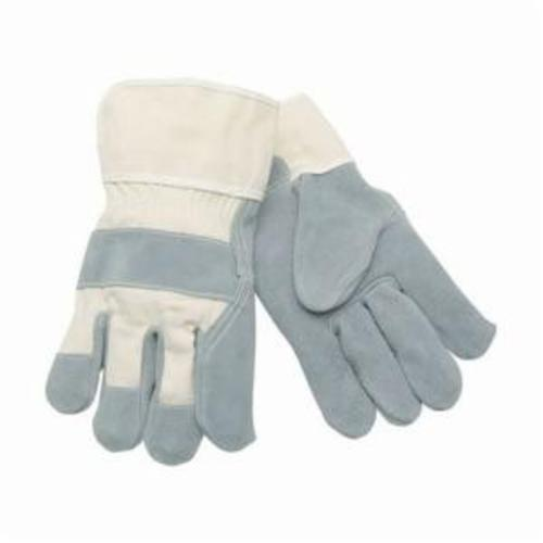 Memphis 1250C Industrial Grade General Purpose Gloves, Leather Palm, L, Cowhide Leather Palm, Cowhide Leather, Gray, Plasticized Safety Cuff, Uncoated Coating, Resists: Abrasion, Cut, Puncture and Tear, Fleece Lining