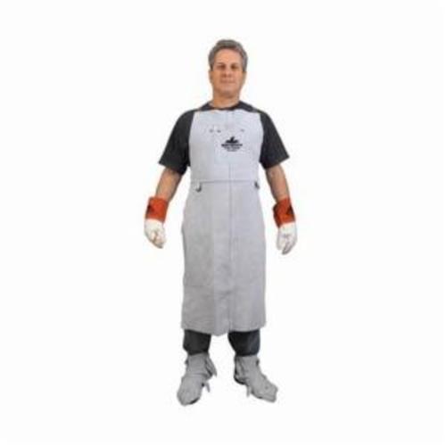 Steiner® Weldlite™ 10325 Bib Apron, 36 in L x 24 in W, Cotton, Green, Shoulder and Waist Strap Closure, Over Lock Seam